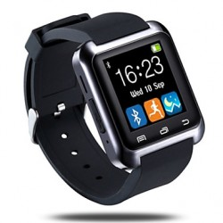 Bluetooth3.0 Camber Superficie Smart Watch pedómetro Sleep Monitor Sincronizar mensaje de llamada para Android Phone & Iphone