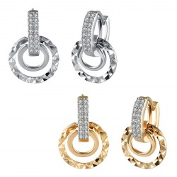 18K Gold Hoop Earring Wedding Bridal Jewelry with Lighting Jewelry Box