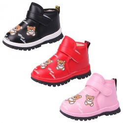 Baby's Winter Cartoon Velcro Plush Ankle Booties