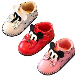 Girl's Mickey Mouse Plush Snowproof Short Ankle Boot