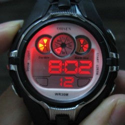 Digital impermeable Boy Girl Señora Alarma Stop Led Deporte Moda Silicona Watch