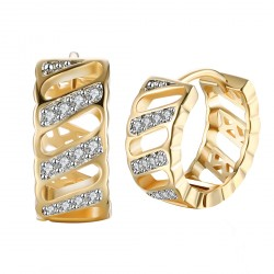 18K Gold Sterling Earrings Hook Wedding Bridal Jewelry with Box