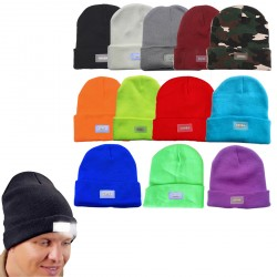 LED Ultra Bright Lighted Hands Free Hat Power