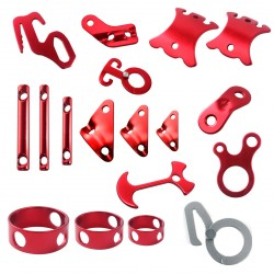 10 Pcs for Camping rope Aluminum Alloy Adjustment Buckle Various Sizes
