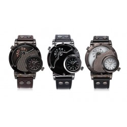 Automatic Sport Watches Leather Wrist Watch